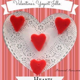 Valentine's Day Treat – Yogurt Jell-O Hearts