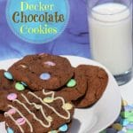 Double Decker Chocolate Chip Cookie Recipe Made With M&M's