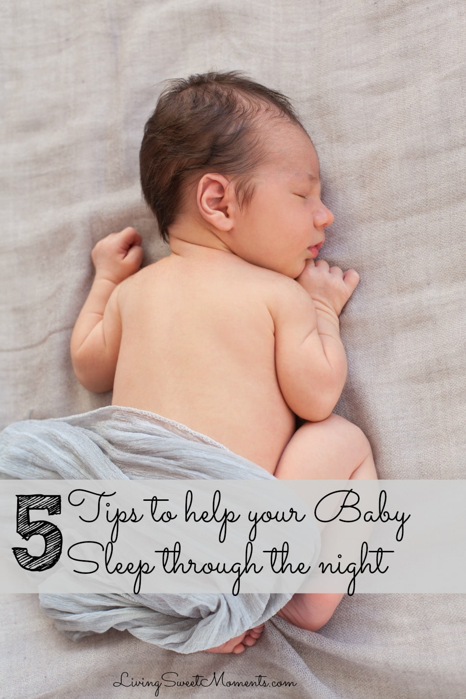 Here I present 5 proven tips to help your baby sleep through the night. Hopefully these easy tips will help your child ease off to sleep quickly and stay that way throughout the night.