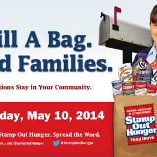 Today Is Stamp Out Hunger – Please Donate!