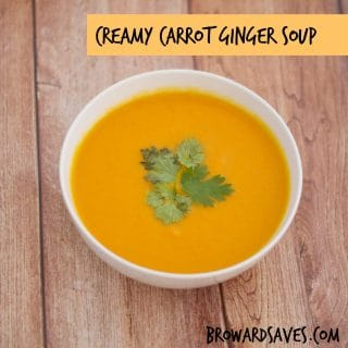 Creamy Carrot Ginger Soup Recipe – Dairy Free & Vegetarian!