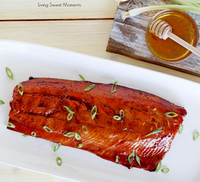 This delicious ginger soy salmon recipe requires only 5 ingredients and is ready in 25 minutes or less. The perfect healthy quick weeknight dinner idea.