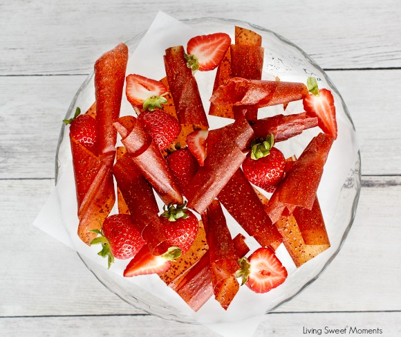 Strawberry Fruit Roll ups recipe cover
