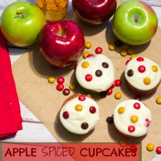 Apple & Chocolate Spiced Cupcakes With Cider Frosting