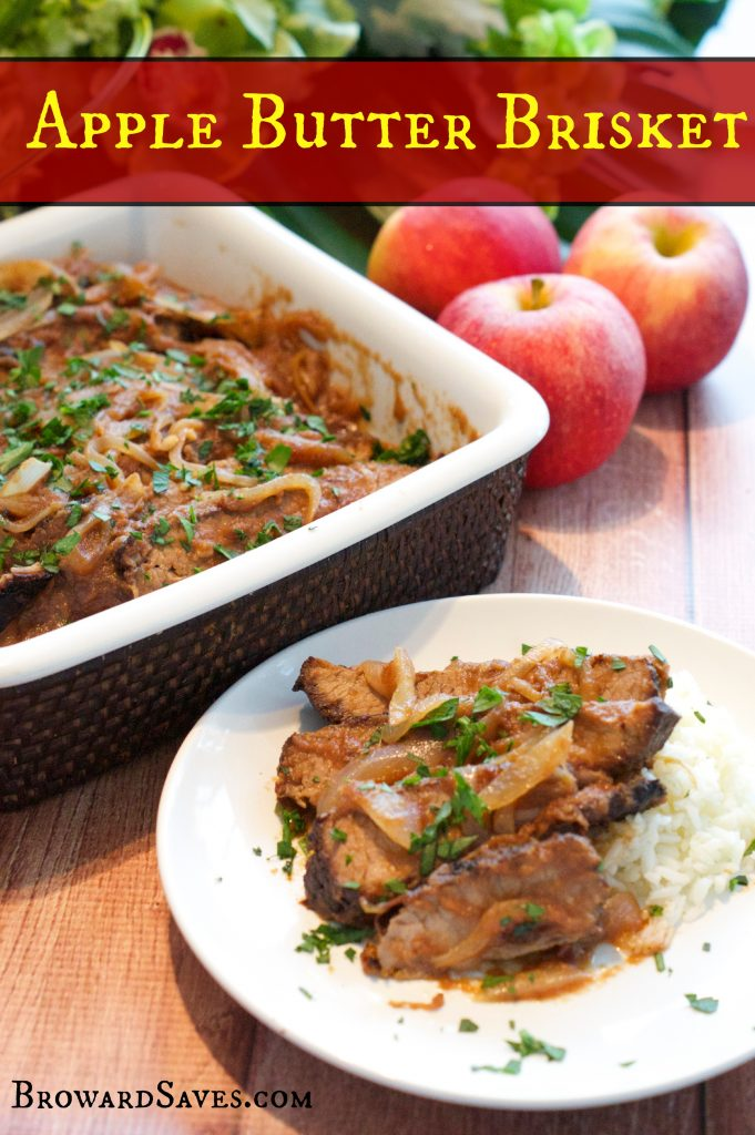 This amazing Apple Butter Brisket recipe is sweet, tender, and perfect for the holidays. Made with beer and roasted to perfection. It also feeds a crowd