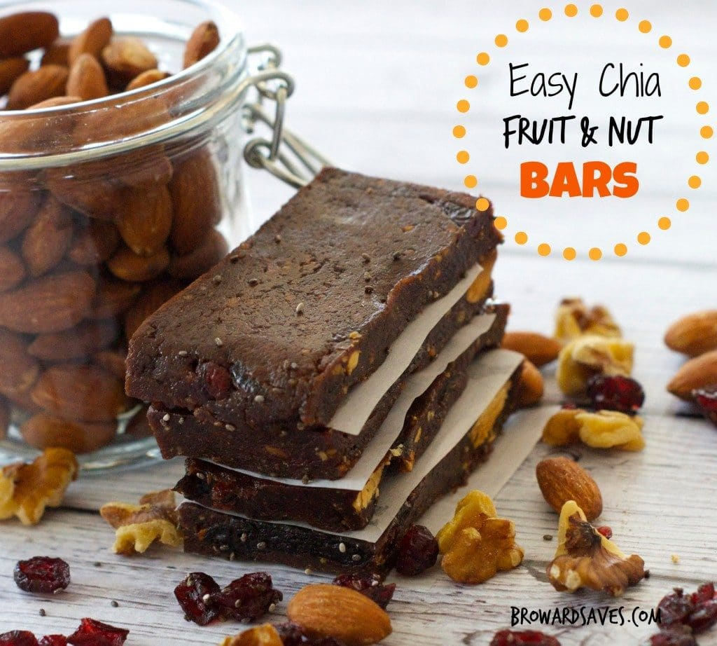 Fruit & Nut Bar Recipe : Only 7 ingredients tossed together into a food processor. No cooking required at all. They are vegan and gluten free.