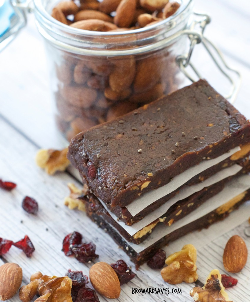 Fruit And Nut Bar Recipe : Only 7 ingredients tossed together into a food processor. No cooking required at all. They are vegan and gluten free.
