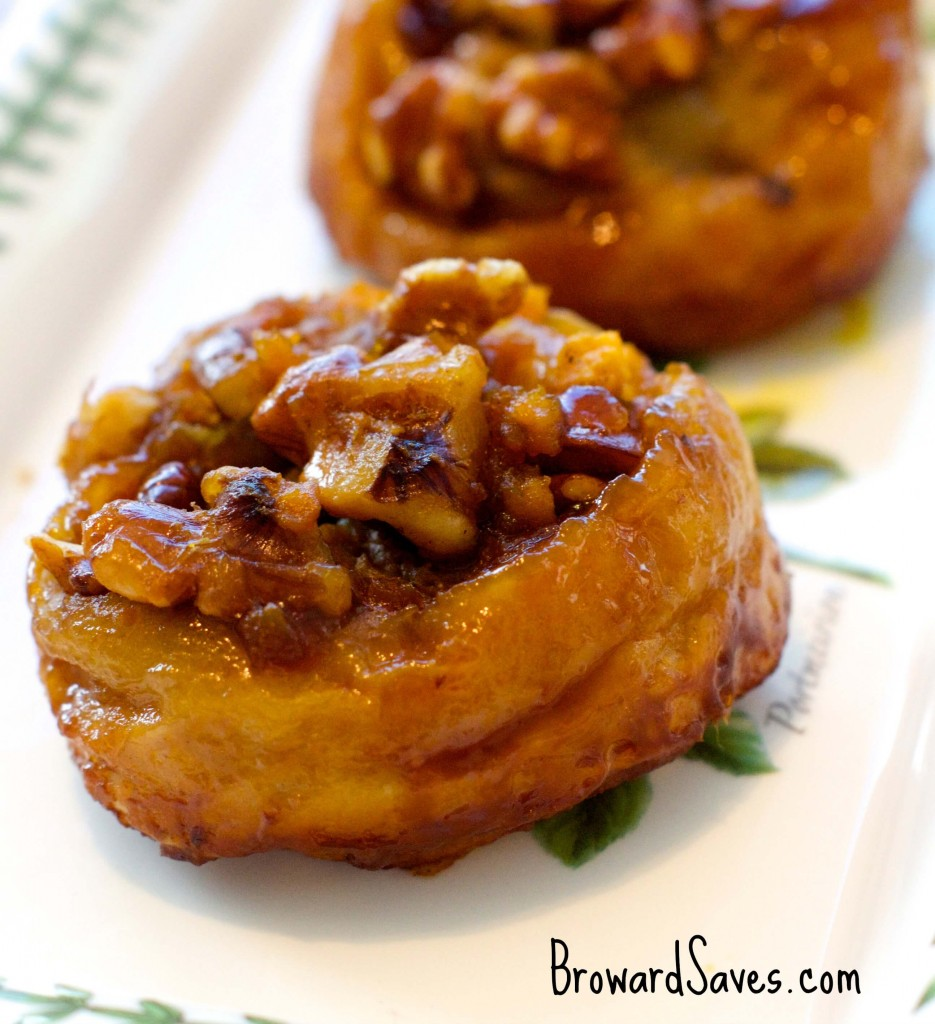 These delicious Pumpkin Walnut Sticky Buns are super easy to make and ready in 45 minutes or less. The perfect brunch recipe for fall.