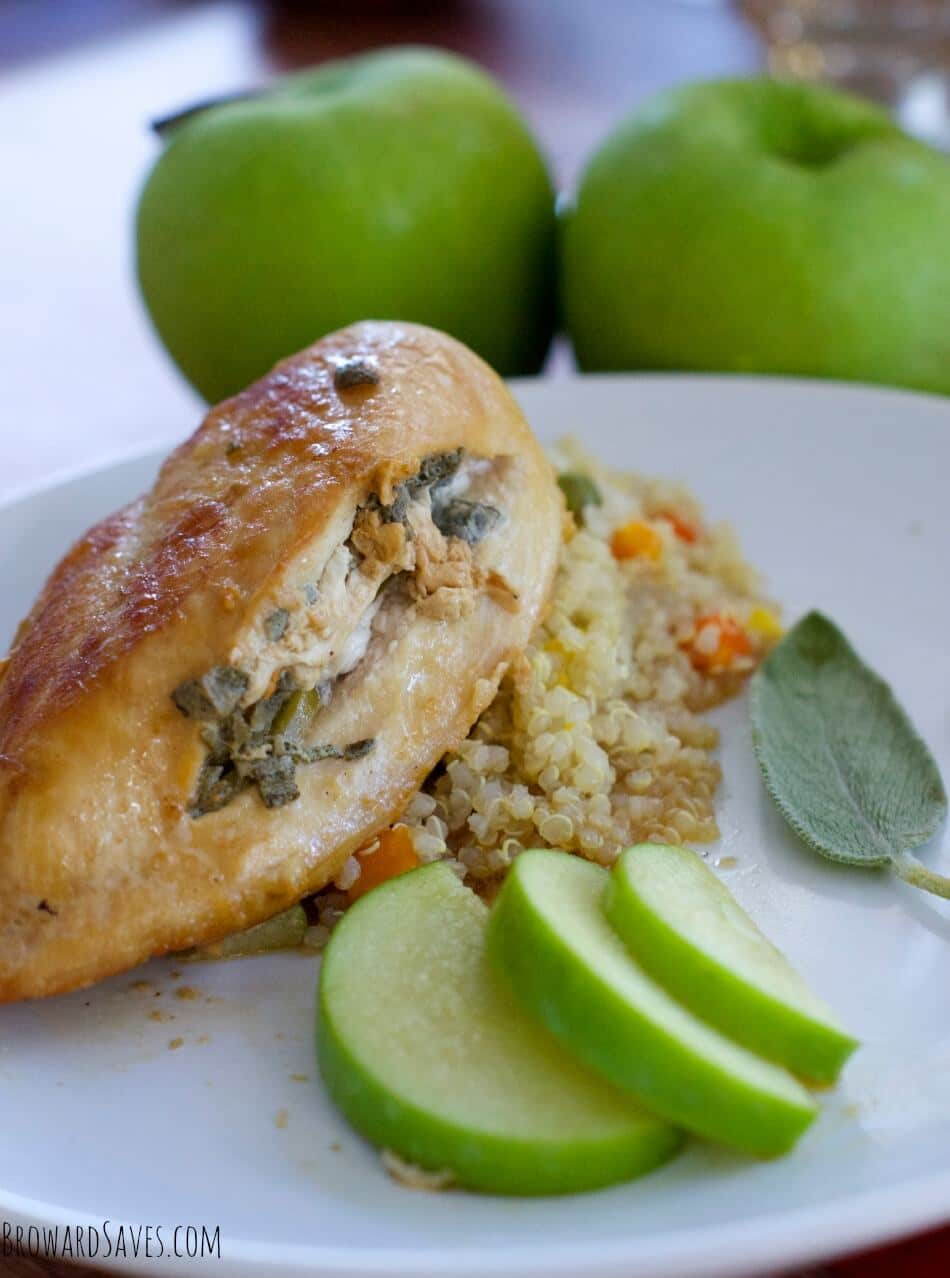 This Apple Sage Chicken breast recipe is perfect for a quick weeknight meal or ideal for entertaining guests ready in 20 minutes or less! Perfect for fall.
