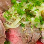 Flank Steak With Mustard Sauce