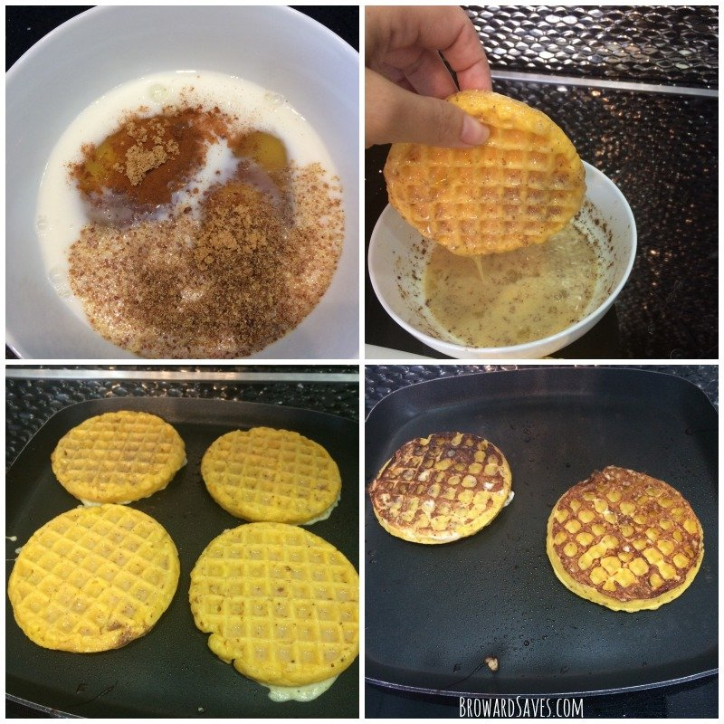 french-toast-frozen-waffles-recipe-process
