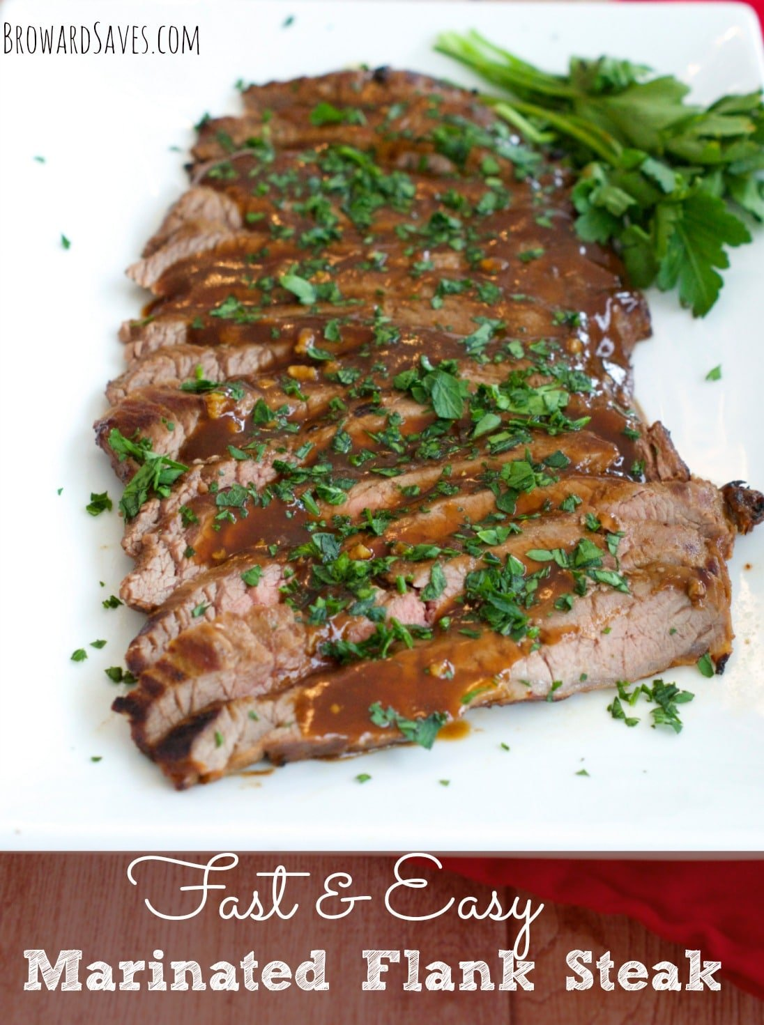 This easy and delicious marinated Flank Steak Dinner Recipe takes less ...