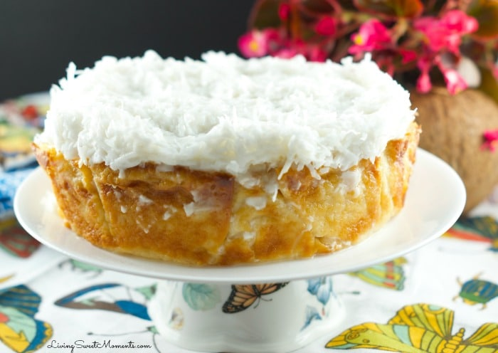 This Sinful Coconut Cake recipe is made in a slow cooker so it does not need any kind of babysitting at all. Perfect dessert for a busy celebration. Enjoy!