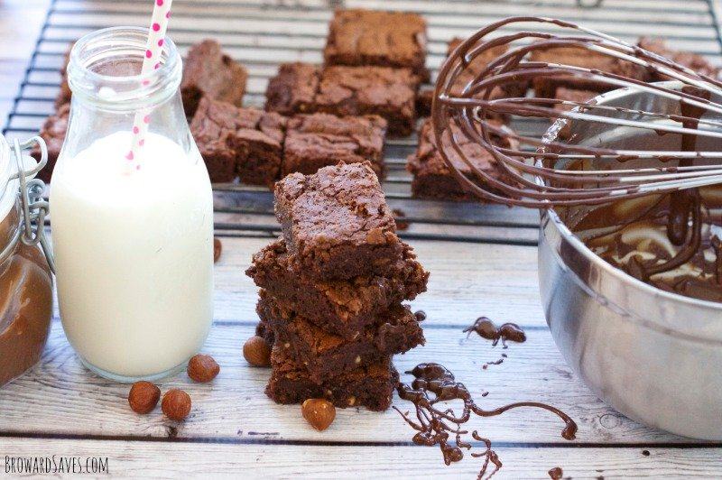 Sinful and delicious! These fudgy Nutella Brownies taste amazing! Made with real chocolate and hazelnuts. Try it and it will become your favorite recipe!