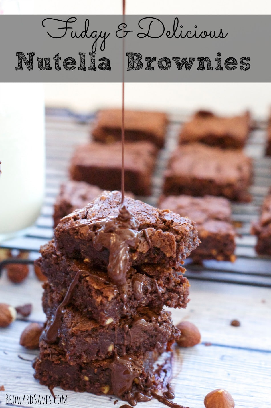 Delicious And Decadent Nutella Brownies - Living Sweet Moments