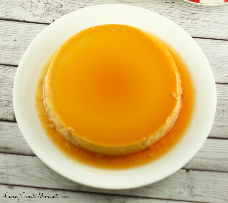 This gluten free Eggnog Flan is super easy to make and is the perfect Holiday dessert to serve at parties and celebrations.