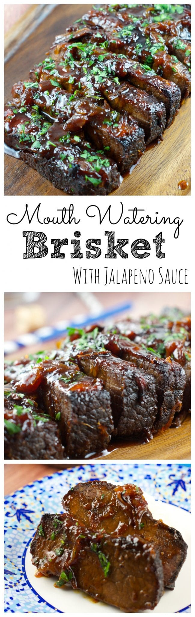 This melt in your mouth Jalapeño Brisket Recipe is a crowd pleaser! All the flavor without the heat. Serve it in your next gathering and it will be a hit.
