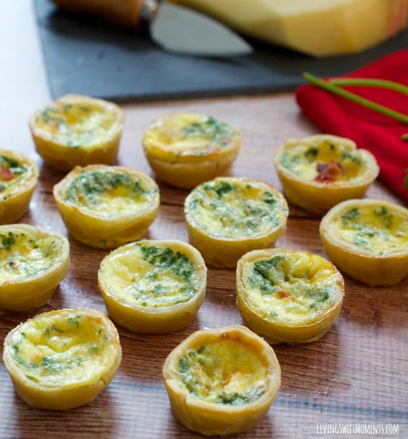 This delicious Mini Quiche Lorraine Recipe tastes just like the ones in Paris and is easy to make. The perfect appetizer for parties and celebrations.
