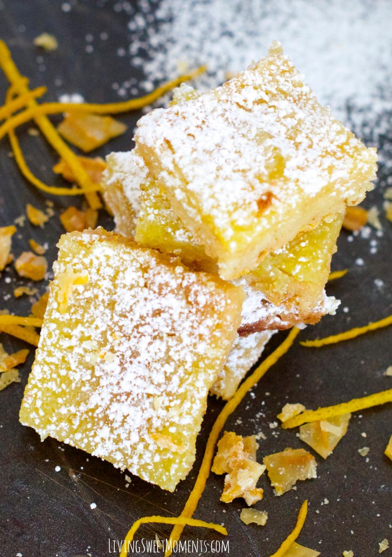 Delicious Orange Bars Recipe Living Sweet Moments