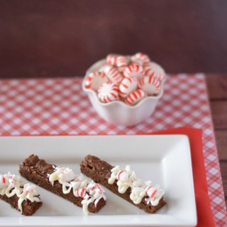 Peppermint Brownie Sticks