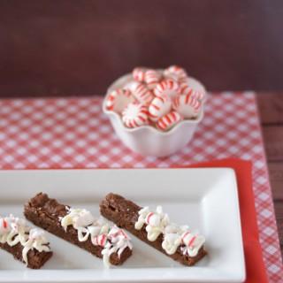 Peppermint Brownie Sticks