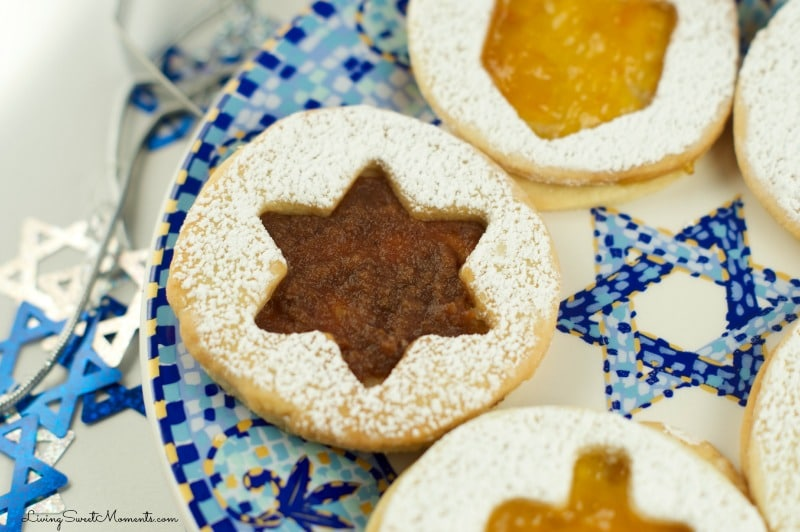 This Hanukkah Jelly Cookie Recipe is so east to make! From start to finish it only takes about 30 minutes. You can fill these up with any filling you'd like