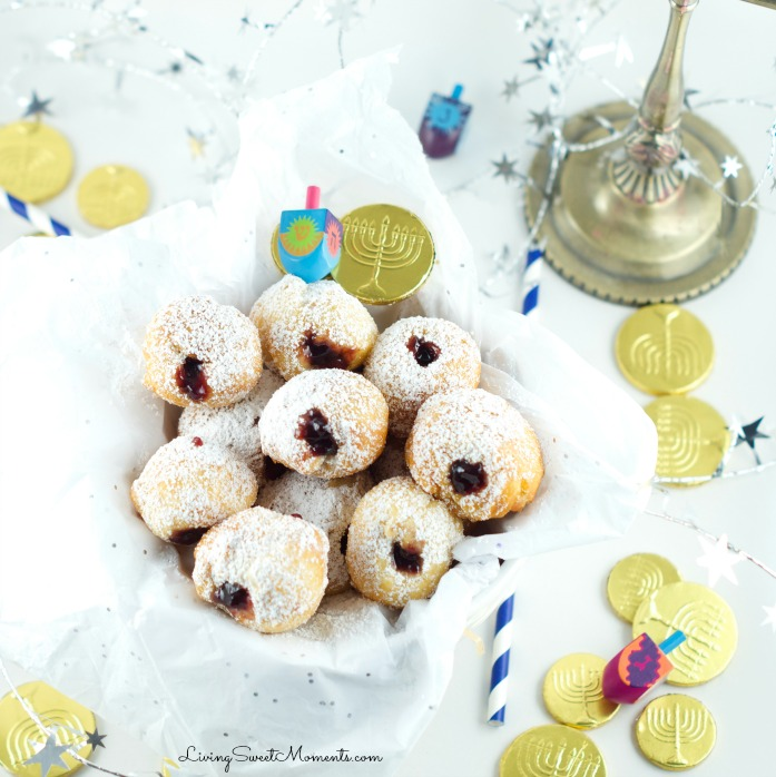 This Quick Jelly Donut Recipe is so easy and delicious! Takes 5 minutes from start to finish and the results are wonderful. Perfect for any celebration.