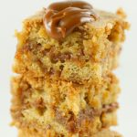Brown Butter Blondies With Dulce De Leche