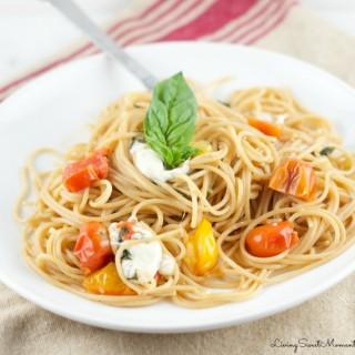 One Pot Caprese Pasta Recipe (No Draining Required!)