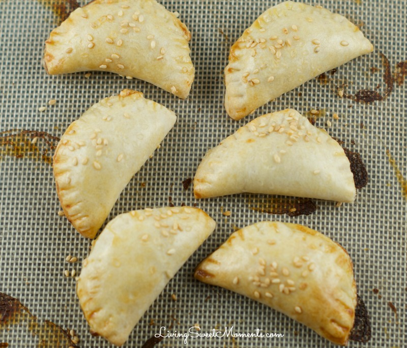 cheese bourekas recipe - So easy to make and delicious. The dough puffs up and becomes extra flaky with a smooth cheese filling that's amazing. Perfect appetizers for entertaining.