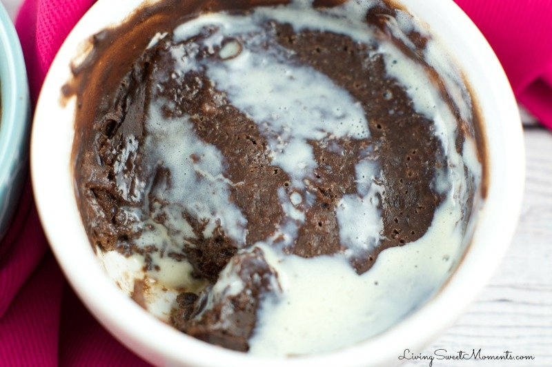 These delicious Skinny Mug Brownies have less than 100 calories each and are made in the microwave in just 1 minute