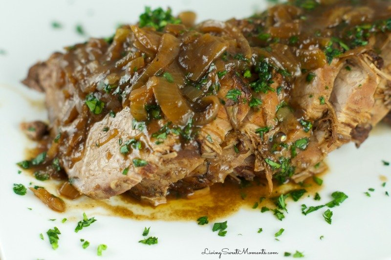 Slow Cooker Balsamic Beef Roast - made with balsamic and coke, this roast (asado negro) is tender, flavorful and very easy to make. Perfect for entertaining.
