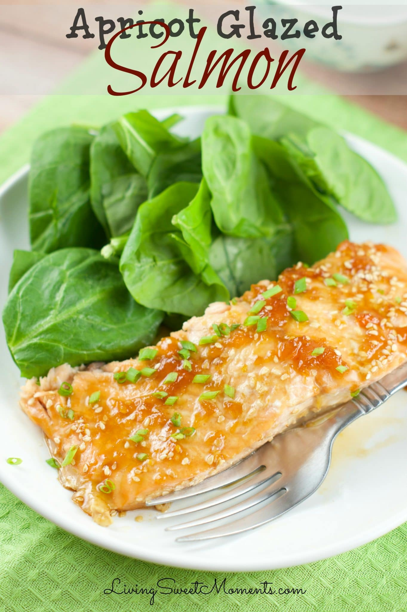 Apricot Glazed Salmon - Just 5 ingredients is all it takes to make this elegant and easy quick weeknight dinner. The Baked Salmon is juicy, sweet and tasty.