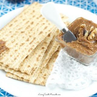 Charoset Recipe - made with dates and walnuts is the perfect Passover Recipe for your Seder dinner. Easy to make and super delicious spread for matzohs.