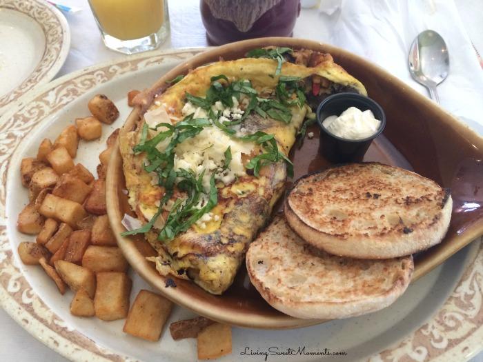 Vegetarian Omelette at Another Broken Egg Cafe