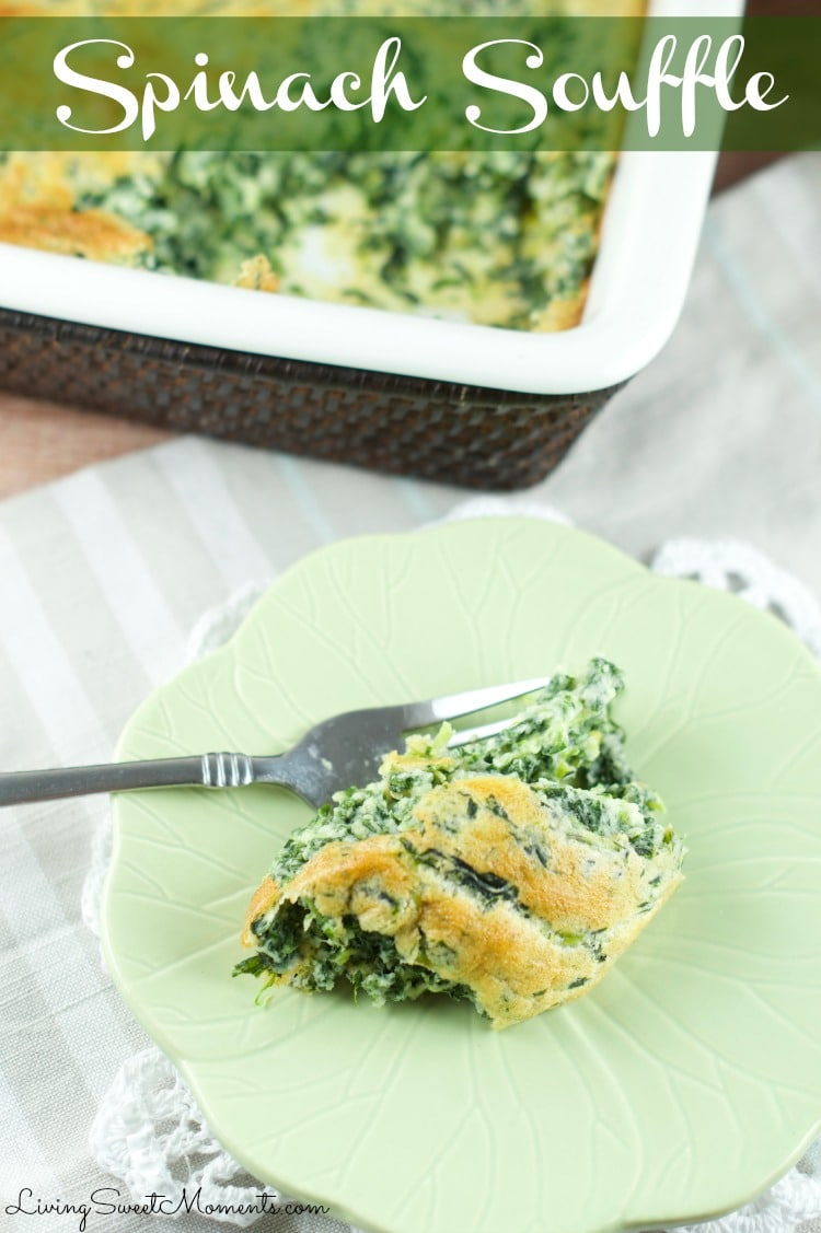 Spinach Souffle Recipe - This easy weeknight side dish is very easy to make and delicious. The perfect Spring recipe to bake in the oven and entertain with.