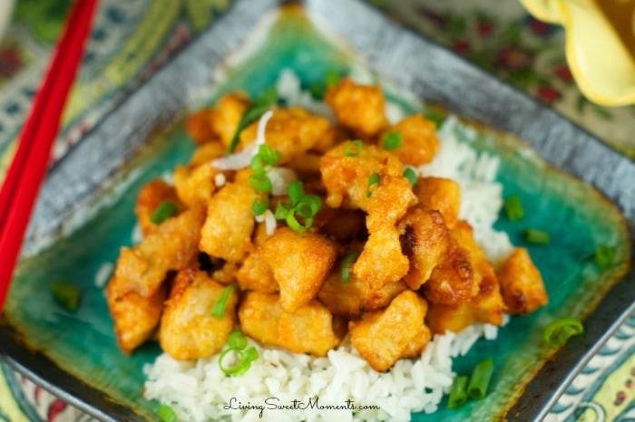 Sweet And Sour Chicken - An easy weeknight recipe that's super tasty. No need to order Chinese take-out anymore. This Chinese chicken recipe will be a fave.