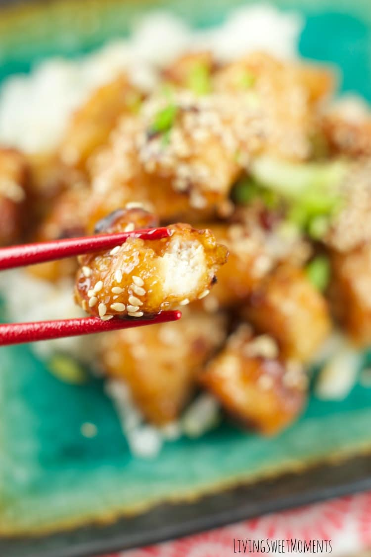 Baked Honey Sesame Chicken - Skip the Chinese take-out and try this easy homemade version instead. It tastes even better than your favorite restaurant dish