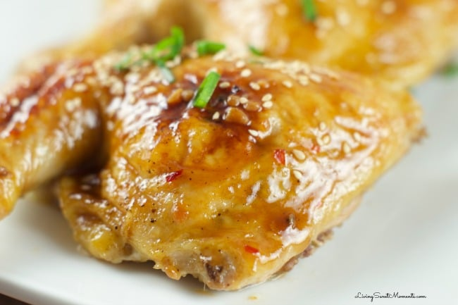 Chicken with Orange Plum Sauce - Roasted chicken glazed with sweet and ...