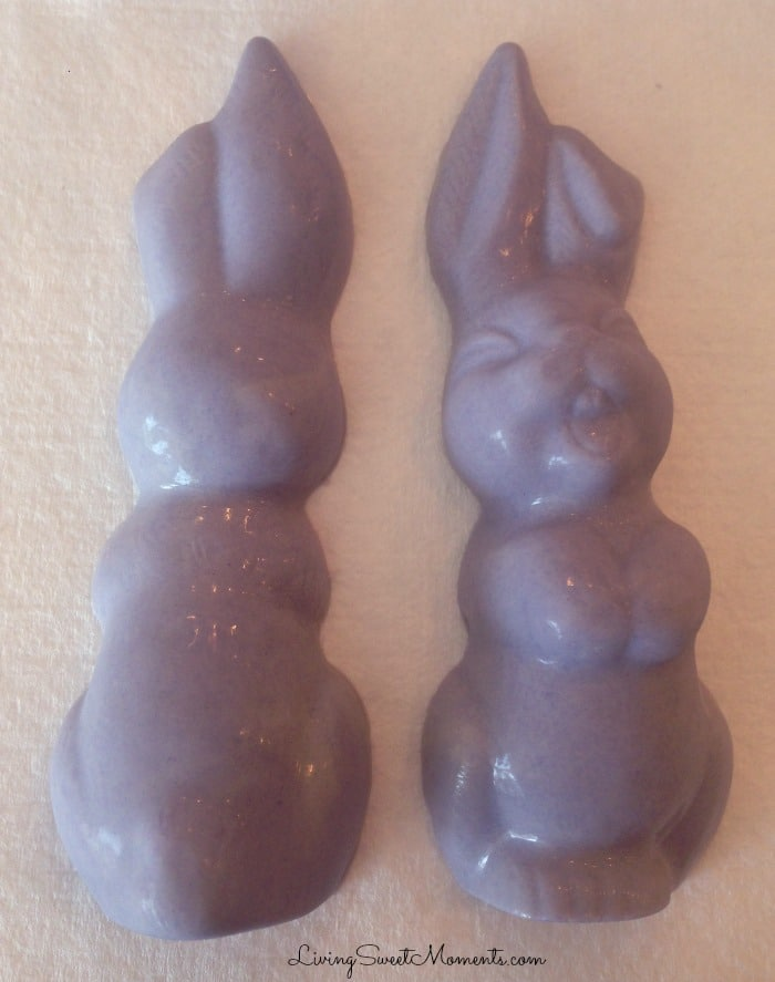 Cute Chocolate Bunny Filled With Sixlets - Perfect sweet treat for your Easter celebration. Very simple to make and so delicious. Kids will love their bunny