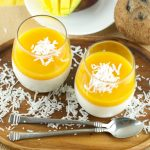 Coconut Panna Cotta With Mango Gelee