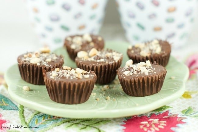Hazelnut Chocolate Cups - A Copycat Reese's cups but instead of using ...