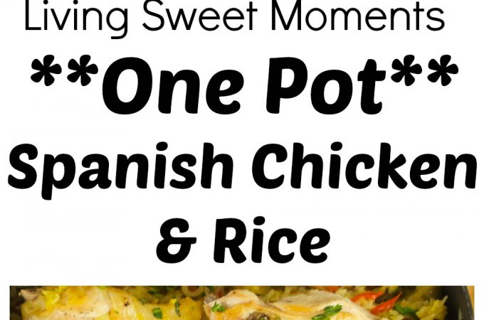 One-Pot Spanish Chicken And Rice - Delicious and simple chicken dinner recipe flavored with saffron, veggies, and stock that your family will love. I love it
