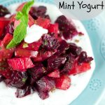 Roasted Beet Salad With Mint Yogurt