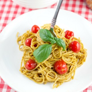 Roasted Pepper And Avocado Pasta