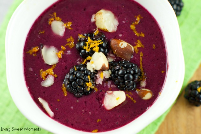 Delicious Mixed Berry Gazpacho - Living Sweet Moments