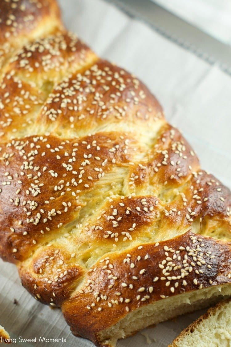 Challah Bread - This easy to make eggy, delicious challah bread is the perfect to eat out of the oven but also makes amazing french toast the next day. Yum
