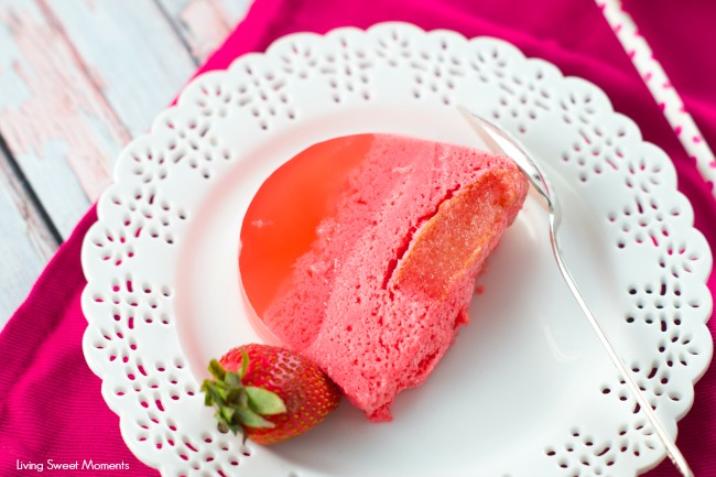 Magic Strawberry Jell-O Cake - Only 5 ingredients. this easy no bake summer cake magically creates 3 layers of flavors that your family will love. Super yum