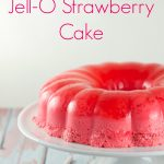 Magic Strawberry Jell-O Cake