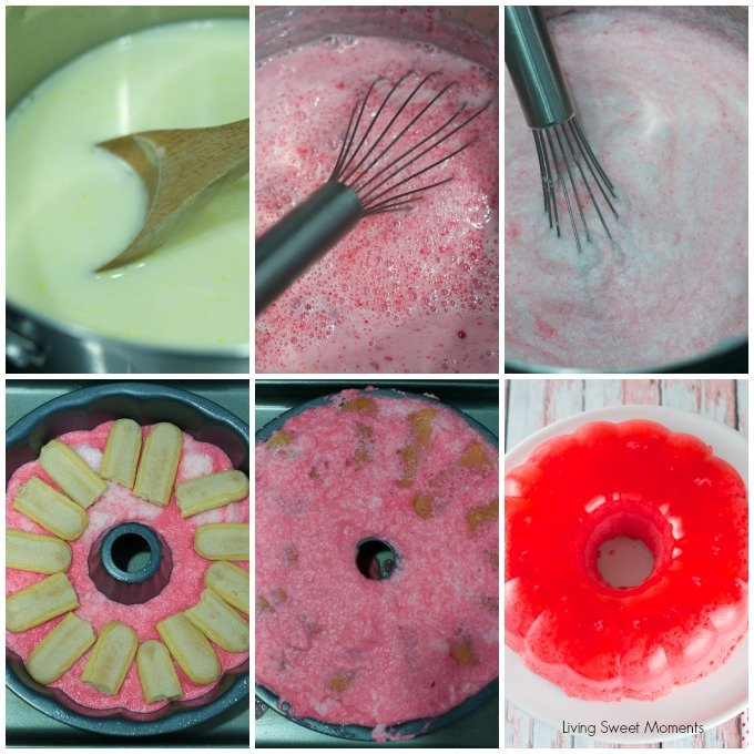 Magic Strawberry Jell0 Cake - Only 5 ingredients. this easy no-bake summer cake magically creates 3 layers of flavors that your family will love. Super yum